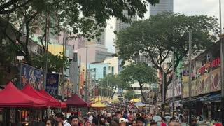 Happening street before pandemic