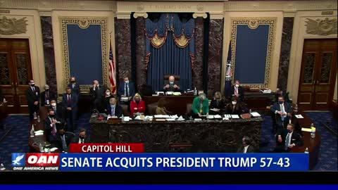 Senate acquits President Trump 57-43