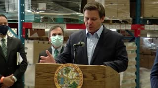 Governor Ron DeSantis Helps Announce a $1.6M Donation to Palm Beach County Food Bank by Blackstone 4/22/21