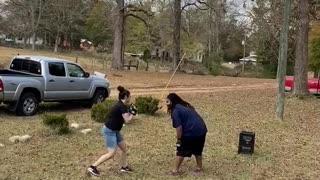 Friend Accidentally Falls Down Off Deck