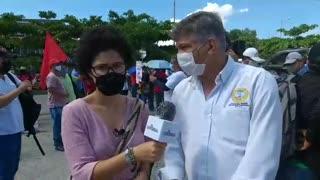 Secretario del Interior habla sobre marcha en Cartagena