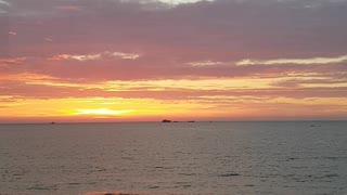 Evening glow,Sunset