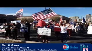 #HollowNetLIVE- At the Maricopa County Election Commission #CountTheVotes Protests