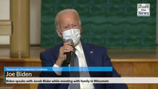 Biden speaks with Jacob Blake while meeting with family in Wisconsin