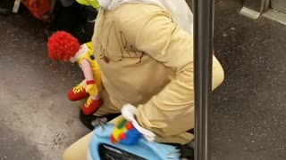 Man clown costume michael mask