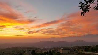California sunrise in Corona hills