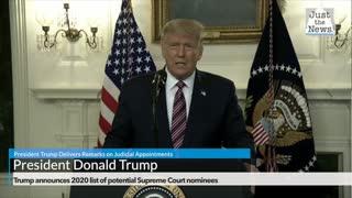 Trump announces 2020 list of potential Supreme Court nominees