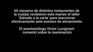 Meseros de Bucaramanga se capacitaron para atender 'atoramientos'