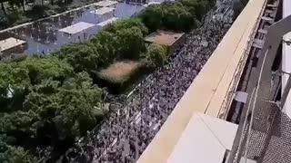 Nice, France, vaccine passport protest