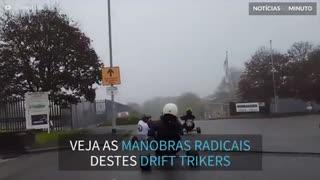 Jovens radicais fazem Drift Triking pelas ruas na Inglaterra