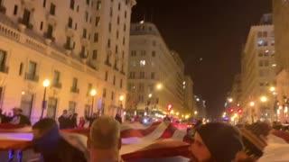 Pro-Trump Patriots Unveil Mega Flag Night Before Rally