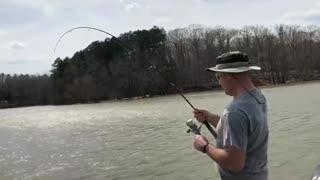 50+ Pound Flathead while Crappie Fishing