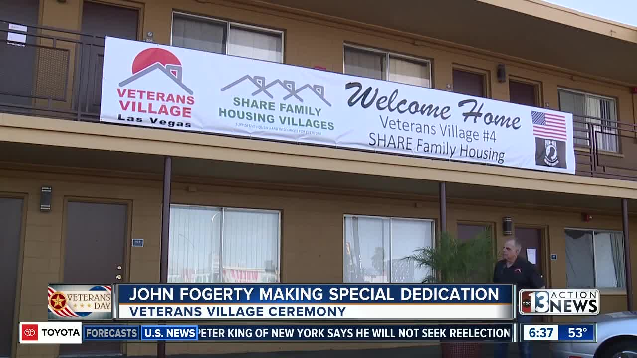 John Fogerty, Veterans Village team up to help Las Vegas veterans