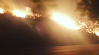 Driving Through the Thousand Oaks Fire