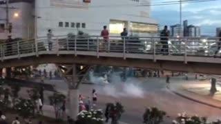 Marcha terminó en enfrentamientos en Cañaveral