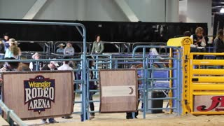Barrel racing championship on December 12, 2017 at the convention center in Las Vegas.