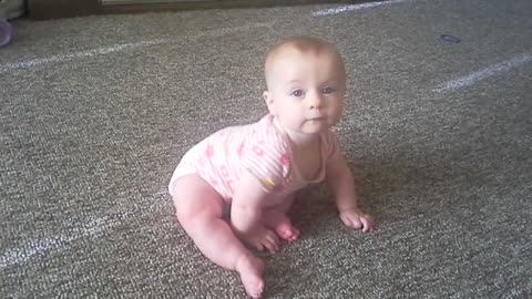 Haley sits up for the first time