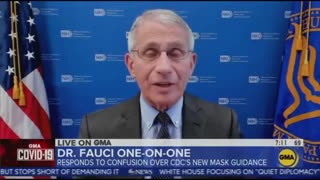 Fauci Admits Wearing Mask was Theater One Month After Saying Masks are Not Theater