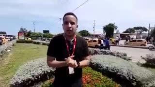 Reporte del paro de taxistas en Bocagrande