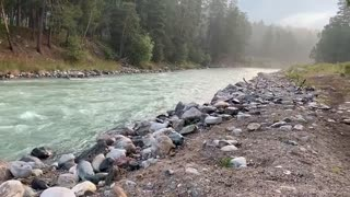 Water Flowing on the River