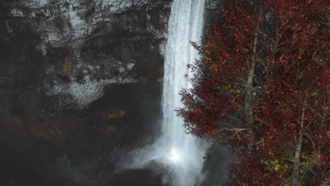Relax Library: Video 76.Watching The Beautiful Waterfall