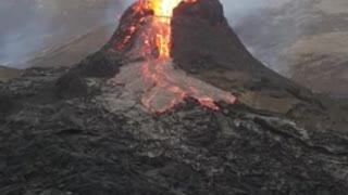 See looks like a science fair project Erupting volcano