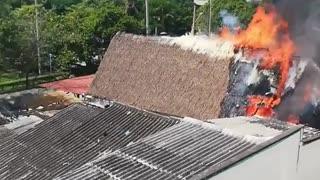 Incendio en restaurante de Crespo