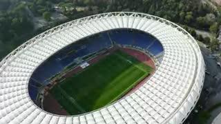 Das Fußballstadion
