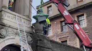 Jan Smuts bust falls at UCT