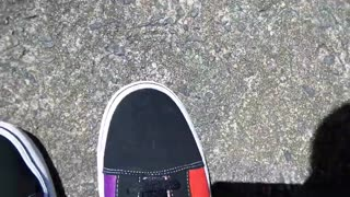 Custom Sneakers made to order from Freaky Shoes Pride Flag Themed Colors