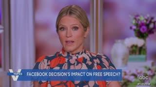 Joy Behar says Trump should stay banned on Facebook