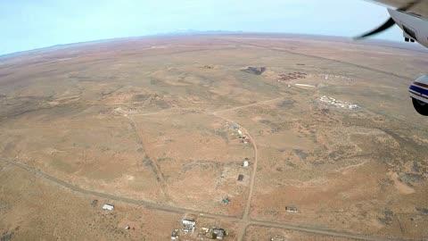 Flight over the Meteor Crater in Northern Arizona