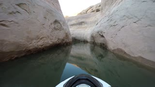 Jet Ski Effortlessly Weaves Way Through Utah Canyons
