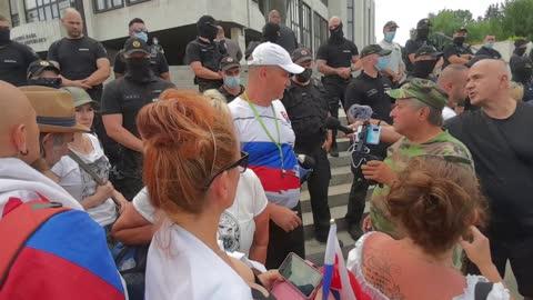 chcemeslobodu.sk - protest pred Národnou Radou 24.07.2021 - část 5