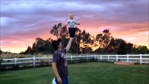 Baby Shows Off Incredible Balancing Skills