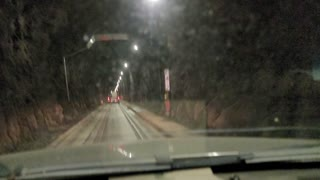 Time-lapse drive through Whittier Tunnel