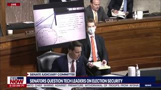 Senators question tech leaders about election security