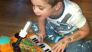 Three year old singing