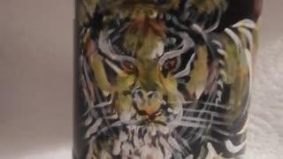 Quick Short Video: A Hand painted glass jar/bottle