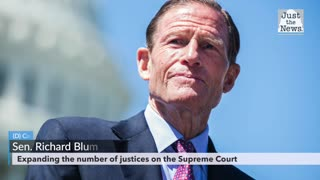 Nicholas Ballasy asks Senator Blumenthal about expanding the number of justices on the Supreme Court