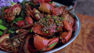Amazing Cooking Rock Crab Spicy Fry Green Pepper Recipe - Cooking With Sros