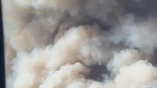 Flying Over Huge Wildfire Smoke Plume