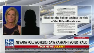 Laura Ingraham Interviews Anonymous Poll Worker In SHOCKING Segment