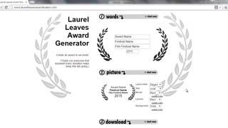 Laurel Leaves Award Generator