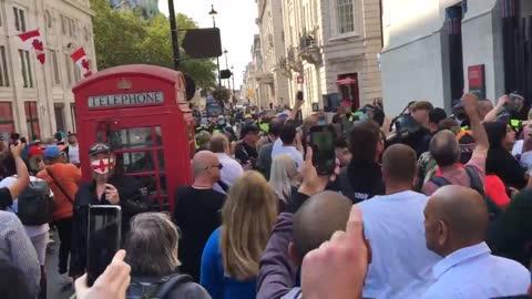 anti Coronavirus lockdown protest in central London 4