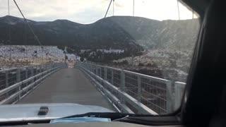Swinging Suspension Bridge over Green River in NW Colorado