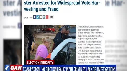 Texas AG: 'No election fraud' myth driven by lack of investigations