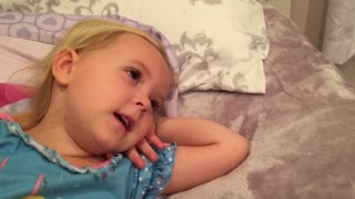 Sweet toddler preciously recites Psalm 91 for the camera