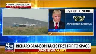 Trump reacts to Richard Branson's Virgin Galactic test flight