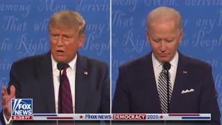 Look under Biden's collar what do you see?